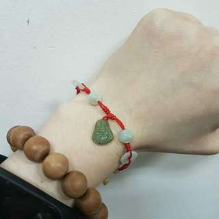 Authentic Jade ( A Type ) Best Kind.  Buddha For Happiness & Abundance.