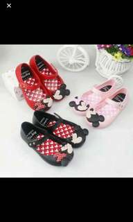 Instock Minnie Mouse inspired Mini Melissa gd quality size 13.5-14cm black and red available