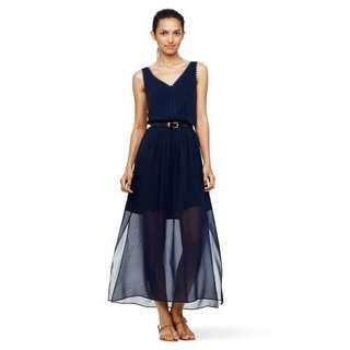 Tomi Scallop Detail Silk Dress