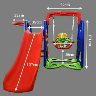 3 in 1 indoor& outdoor mini playground set