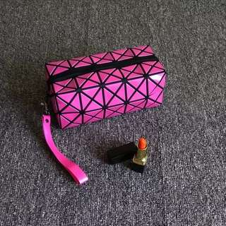 Makeup pouch hot pink