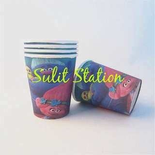 10pcs TROLLS BIRTHDAY PARTY PAPER CUP