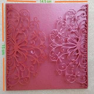 Invitation Gatefold Dark Pink
