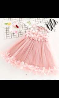 Girl flower party tutu tulle dress skirt infant toddler kids