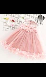 Girl flower party tutu tulle dress skirt infant toddler kids