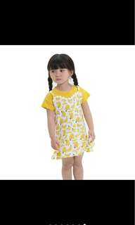 Fake 2 pcs banana dress skirt summer infant toddler kid baby girl