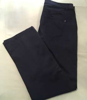 Charity Sale! Authentic Esprit Navy Blue Khaki Soft Pants Size 10 Women Regular Fit