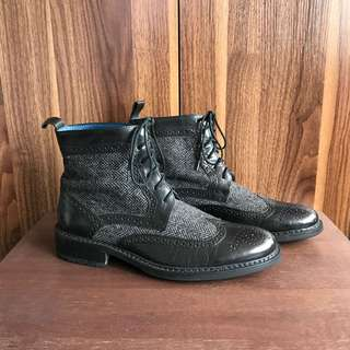 Mr. Collection Brogued Casual Boots Leather Shoes