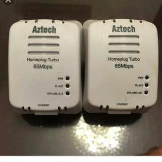 Aztech HL105E Homeplug(85Mbps) 兩個