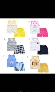 Baby boy singlet sleeveless top pants summer set infant toddler