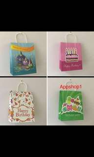 Happy birthday paper bag- goody bag, goodies bag packages