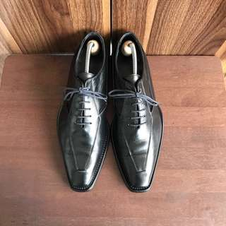 Gay Giano Italy Black Formal Leather Oxford Shoes