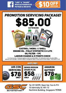Asian Car Shell / Mobil 1 / Castrol Servicing Promotion