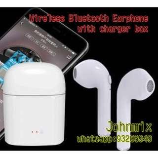 I7S TWS 雙耳真無線藍芽耳機 連充電盒 Wireless Bluetooth headphone portable Mini headset with charger box