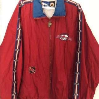 Vintage Colorado Avalanche Pro Player Windbreaker