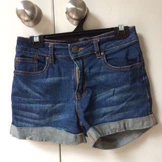 Denim shorts size 6