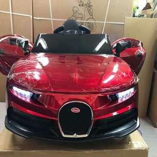 Bugatti( leather seats)USB/ MP3/ remote / swing/ 1-7years old kaya gulong may ilaw size :121x64x52cm 4color: red blue white orange