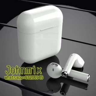 Airpods 同款 雙耳真無線藍芽耳機 連充電盒 I7S TWS Wireless Bluetooth headphone v4.2 portable Mini headset charger box