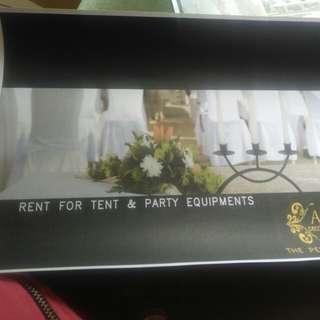 Menerima rent sewa tenda kursi dan alat catering