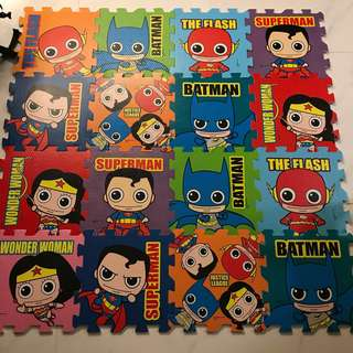 超 可愛Batman Superman圖案超人地墊 playmat 獲歐盟安全標準,安心使用