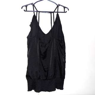 Charity Sale! Authentic Lovely Girl Women's Size Large Black Tank Top