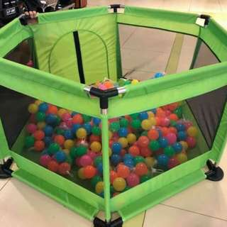 Playpen  Color : pink , red , light blue , green  Ocean ball : 100 pcs - 420 php
