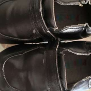 Pitter Pat black shoes for 1-2 years old boy
