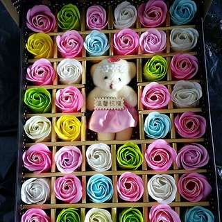 Soap flower with bear
