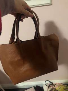 Brown tote bag- perfect condition
