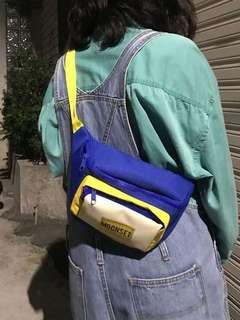MOONSET-全新黃藍色撞色腰包
