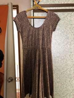 Shana animal print dress