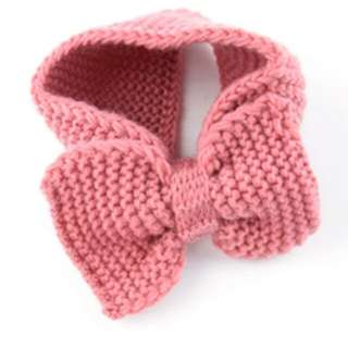 Winter Knit Headband Women kids Warm head Wrap Crochet big bowknot Knitted big bow tie hair ribbon