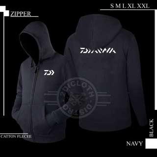 Jaket Sweater Hoodie Zipper Daiwa