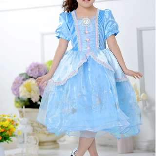 New Princess CINDERELLA COSTUME Party Girls Dress 全新灰姑娘 生日會 宴會 造型裙