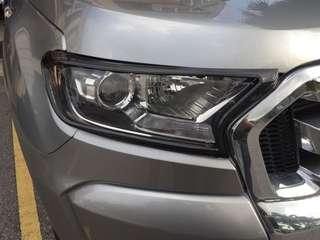 Ford ranger 2015-2017 t6 fl carbon look Headlamp garnish