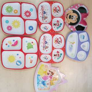 Disney plastic plates for children