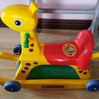 Repriced!!!Giraffe 2-in-1 Riding/Rocking Toy