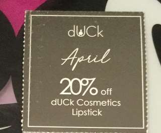 Cosmetic vouchers (lipsticks range)