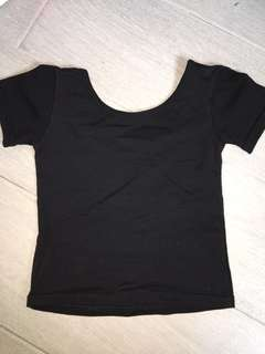 Cotton Black Crop TOP 18-24m