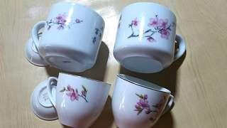Vintage Sakura Teacup x 4pcs