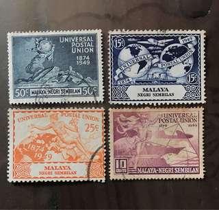 Malaya stamps UPU Negri Sembilan 4v Set used