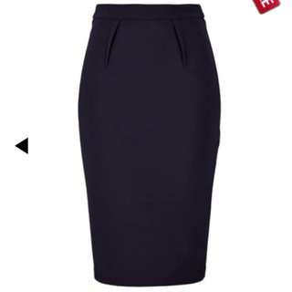 Portmans Navy Midi Skirt