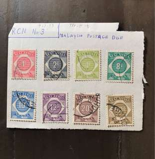 Malaya stamps postage due set