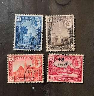 Aden stamps Early Ruler 4v Used