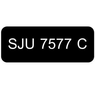 Car Number Plate for Sale: SJU 7577 C