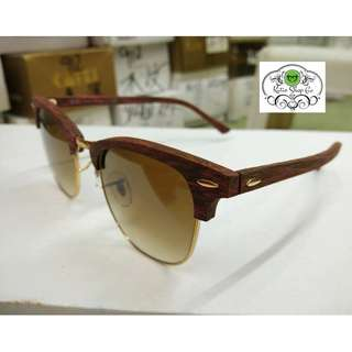 RAY BAN CLUBMASTER RB3016 WOODEN FRAME - RAY BAN SUNGLASSES