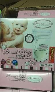 (25+3 free) BN Sealed Autumnz Breast Milk Storage Bag 12oz 28pcs