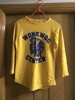 Wonewog center America India tee 印第安人tee t shirt