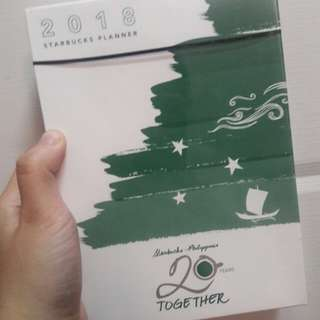 STARBUCKS 2018 PLANNER (Green, Small) -Negotiable Price
