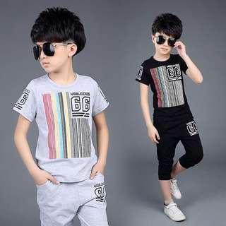 Little Kid 2 Pcs Set - FGR322  Color: as attach photo  Size: 120cm, 130cm, 140cm, 150cm, 160cm  Notes: one size small cutting